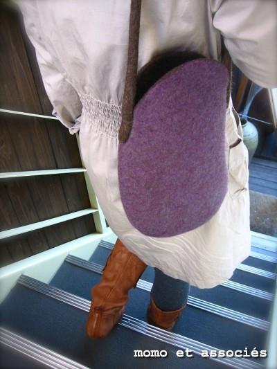 豆Bag パープル